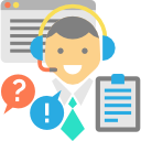 Customer Support System Icon